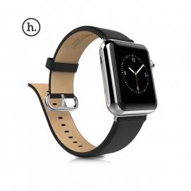 Kožený pásek HOCO pro Apple Watch 42mm - černý