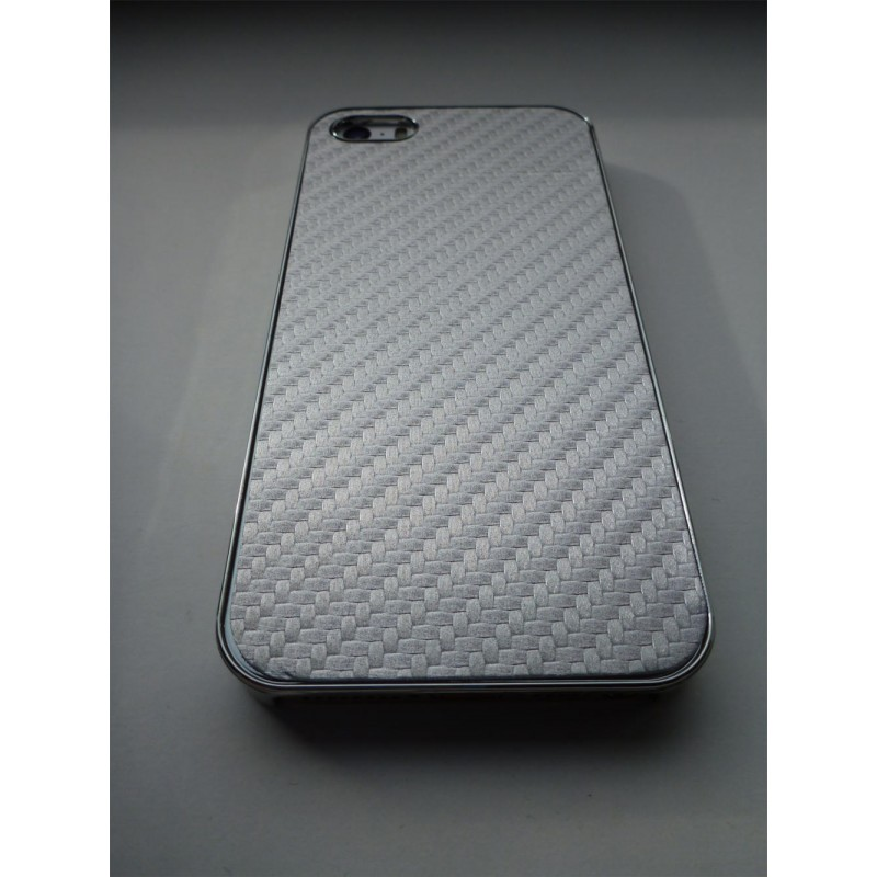 ... Obal   kryt na iPhone 5   5S Stříbrný (karbon) ... 7b792bbe07b