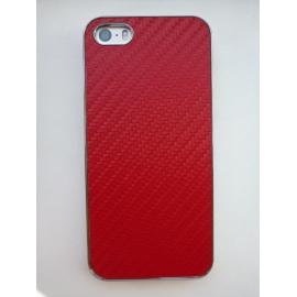 Obal / kryt na iPhone 5 / 5S Červená (karbon)