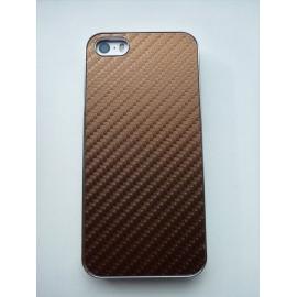 Obal / kryt na iPhone 5 / 5S Hnědá (karbon)