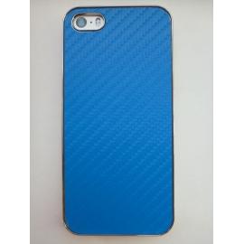 Obal / kryt na iPhone 5 / 5S Modrý (karbon)