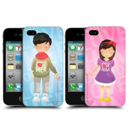 2 Obaly na iPhone 4 Head Case Born to love her