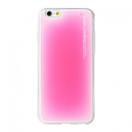 Obal / kryt na iPhone 6 / 6S Aroma Pooding (Růžový)