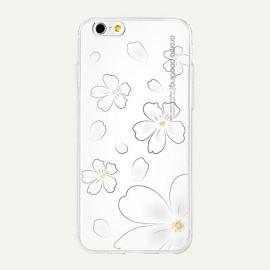 Obal / kryt na iPhone 6 / 6S Aroma Pooding (Bílý Květ)