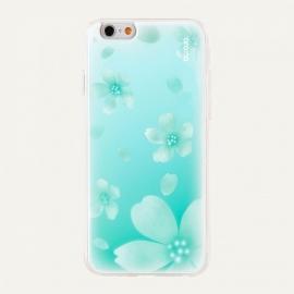 Obal / kryt na iPhone 6 / 6S Aroma Pooding (Modrý Květ)