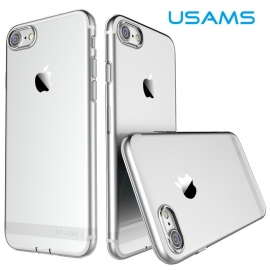 Obal / kryt na iPhone 7 / 8 USAMS - silver (průhledný)