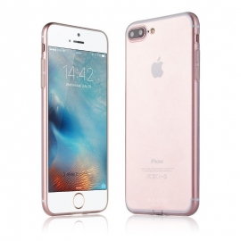 Obal / kryt na iPhone 7 plus G-case - silver (průhledný)