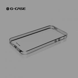 Obal / kryt na iPhone 5 / 5S / SE G-case (šedý - průhledný)