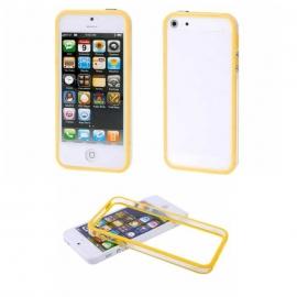 Obal / kryt tzv. bumper na iPhone 5 / 5S / SE Žlutý