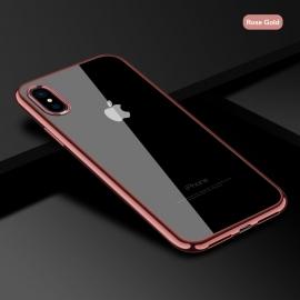 Obal / kryt na iPhone X/ XS Rose Gold (růžový)