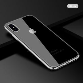 Obal / kryt na iPhone X Silver (stříbrný)