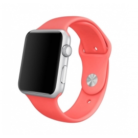 Sport pásek pro Apple Watch 38/40mm- tmavě růžový (lososový)