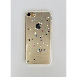 Obal / kryt na iPhone 6 / 6S  silikonový se srdíčky
