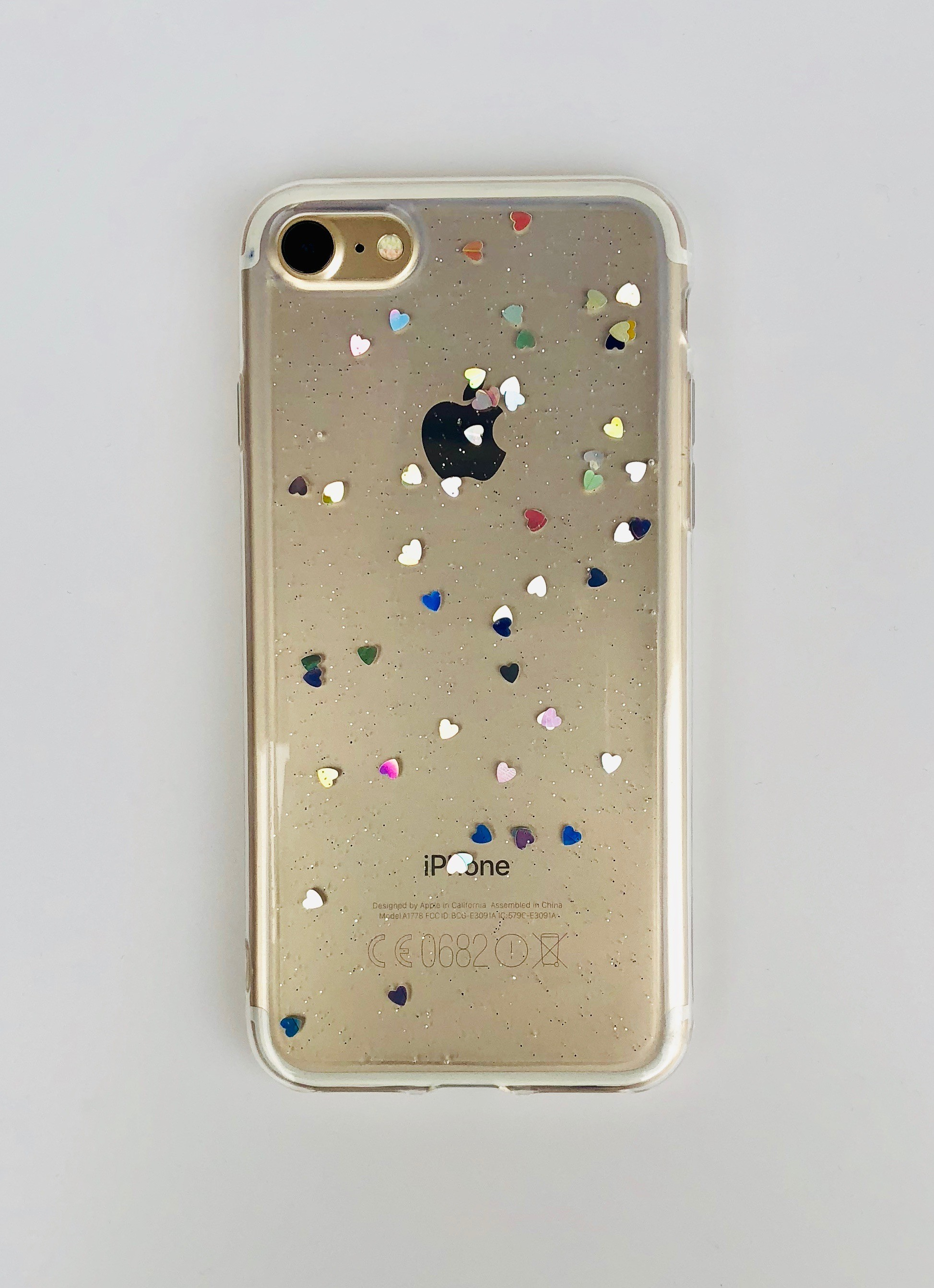 Obal na iPhone 6   6 S plus - průhledný se srdíčky b75e7df541e