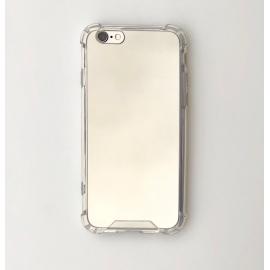 Obal / kryt na iPhone 6/6S- zrcadlový stříbrný