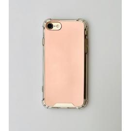 Obal / kryt na iPhone 6/6S- zrcadlový růžový