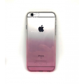 Obal / kryt na iPhone 6 / 6S Rainbow (duha růžová)
