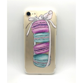Obal / kryt na iPhone 7/8 silikonový  makronky