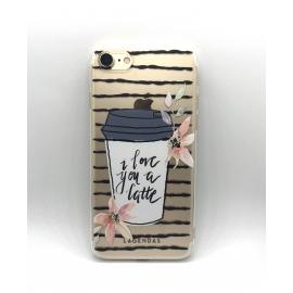 Obal / kryt na iPhone 7/8 silikonový  latte