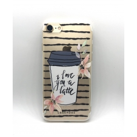 Obal / kryt na iPhone XR silikonový latte