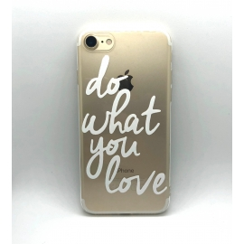 Obal / kryt na iPhone X/ XS  silikonový  do what you love