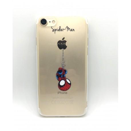 Obal / kryt na iPhone X/XS  silikonový  spiderman