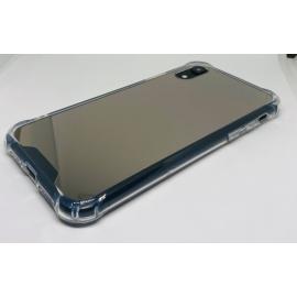 Obal / kryt na iPhone XS - zrcadlový stříbrný