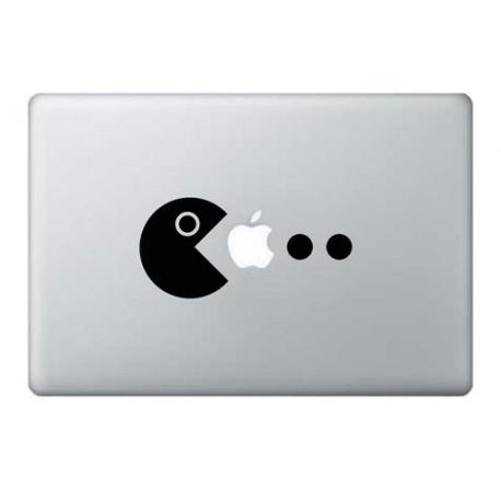Nálepka na MacBook Pacman