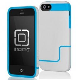 Obal / kryt na iPhone 5 / 5S Incipio šedý - modrý