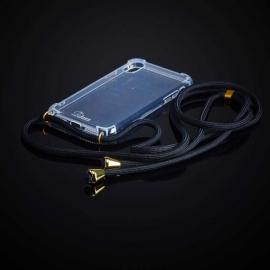 Obal na krk iPhone XR - black (gold metal)