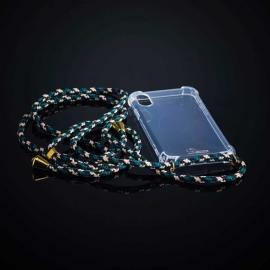 Obal na krk iPhone X - army (gold metal)
