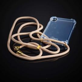 Obal na krk Iphone 6 / 6S plus - beige (gold metal)