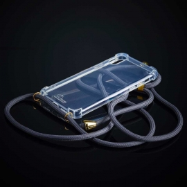 Obal na krk iPhone XS max - grey (gold metal)