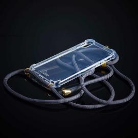 Obal na krk Iphone XR - grey (gold metal)