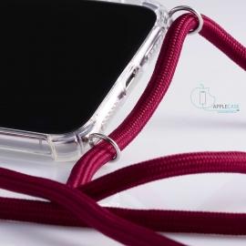 Obal na krk Samsung Galaxy S10- claret (silver metal)