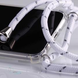 Obal na krk Samsung Galaxy S10- white (silver metal)