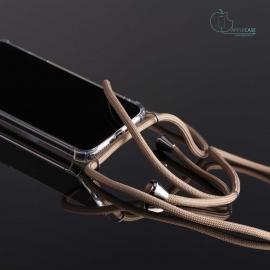 Obal na krk Samsung Galaxy S9 - beige (silver metal)