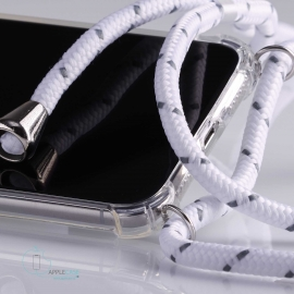 Obal na krk Samsung Galaxy S8 - white (silver metal)