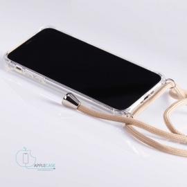 Obal na krk Samsung Galaxy S8 plus - beige (silver metal)