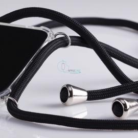 Obal na krk Huawei P30 - black (silver metal)