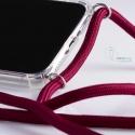 Obal na krk Huawei Nova 3 - claret (silver metal)