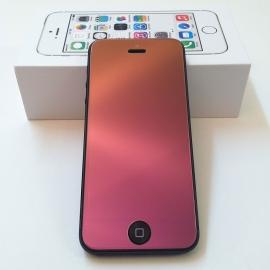 Ochranná skleněná fólie na iPhone 4 / 4S PerfectFit Ruby Růžová