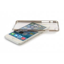 Obal / kryt na iPhone 6 / 6S plus Tucano (stříbrný)
